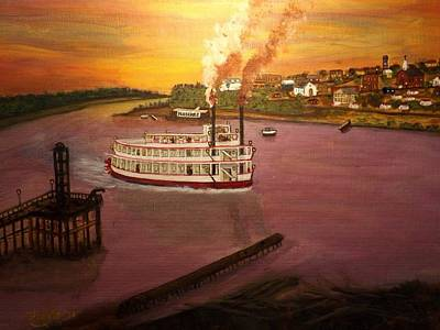 Painting - Next Stop Baton Rouge  by Larry Farris