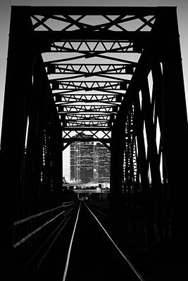 Photograph - Next Stop Fort Worth Bw 72017 by Rospotte Photography