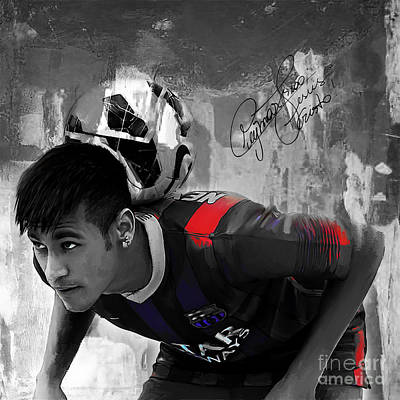 Messi Painting - Neymar 02 by Gull G