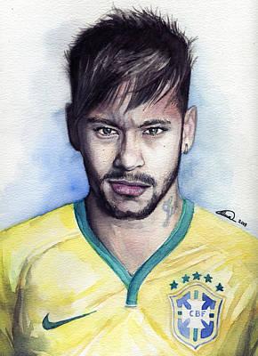 Painting - Neymar by Alban Dizdari