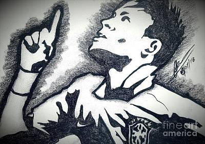 Neymar Wall Art - Drawing - Neymar  by Collin A Clarke