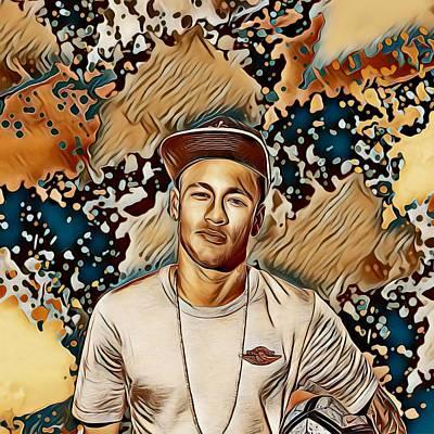 Neymar Wall Art - Painting - Neymar by Sara Schwarz