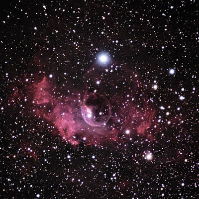 Photograph - Ngc 7635--the Bubble Nebula--in Cassiopeia by Alan Vance Ley