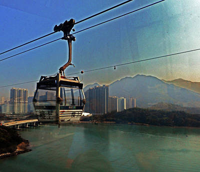 Photograph - Ngong Ping Sky Rail 1 by Ron Kandt