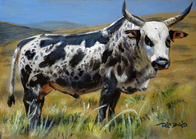 Painting - Nguni Bull by Christopher Reid