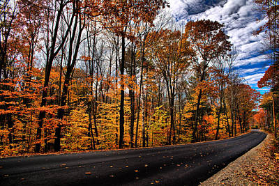 Nh Autumn Road 2 Art Print