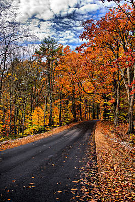 Nh Autumn Road 3 Art Print