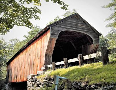 Photograph - N H Covered Bridge 1 by Charles HALL