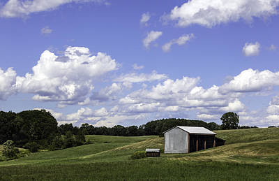 Nh Farm Scene Original by Betty Denise