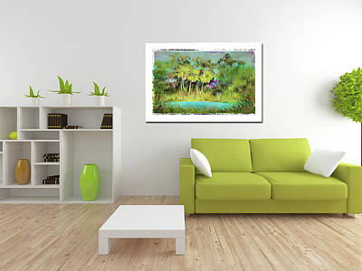 Photograph - Home Decor With Tropical Palms Digital Painting by Carla Parris