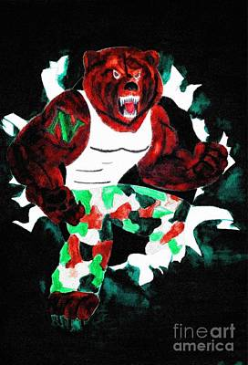 Nhs Bears In Color  Art Print