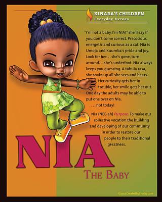 Wall Art - Digital Art - Nia The Baby by Darryl Crosby