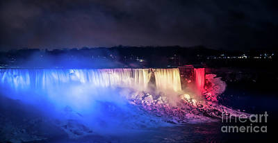 Photograph - Niagara At Night by Bianca Nadeau