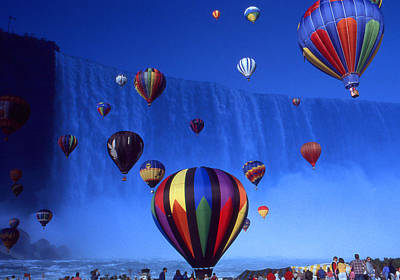 Photograph - Niagara Balloons - Fantasy Art Collage by Art America Gallery Peter Potter