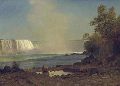 School Days Painting - Niagara Falls by Albert Bierstadt