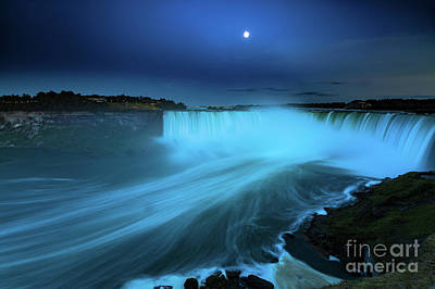 Photograph - Niagara Falls And Moon  by Mariusz Czajkowski