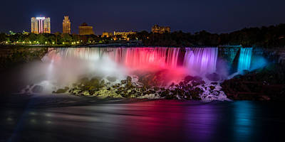 Photograph - Niagara Falls At Night #1 by Mark Robert Rogers