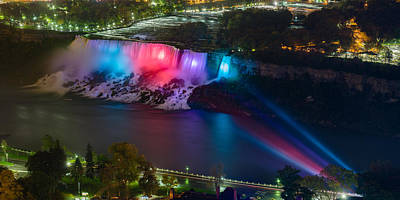 Photograph - Niagara Falls At Night #2 by Mark Robert Rogers
