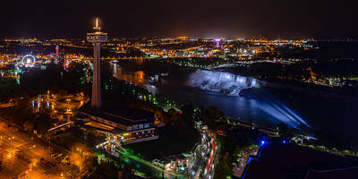 Photograph - Niagara Falls At Night #3 by Mark Robert Rogers