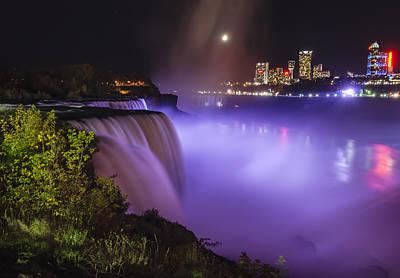 Photograph - Niagara Falls At Night by Vishwanath Bhat