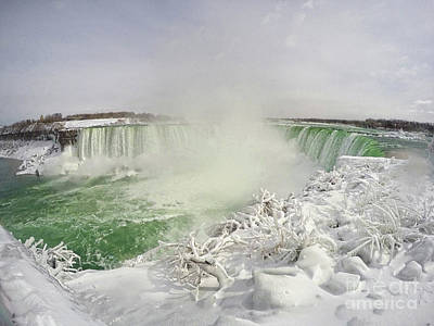 Photograph - Niagara Falls Beautiful Winter Scene by Charline Xia