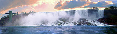 Photograph - Niagara Falls Below View Panoramic by Michelle McPhillips