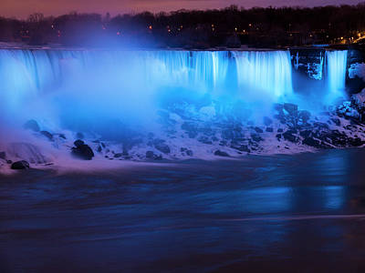 Photograph - Niagara Falls Blue Glow by Rae Tucker