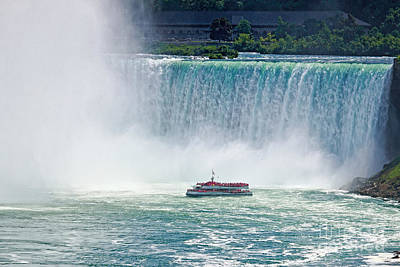 Photograph - Niagara Falls Boat Tour Horn Blower by Charline Xia