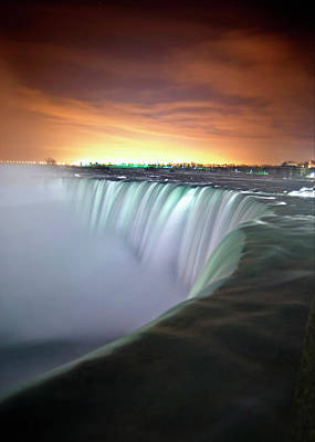 Power Photograph - Niagara Falls By Night by Insight Imaging