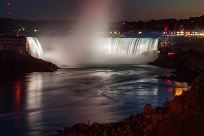 Photograph - Niagara Falls By The Night by Vishwanath Bhat
