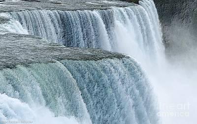 Photograph - Niagara Falls Closeup Charcoal Effect by Rose Santuci-Sofranko