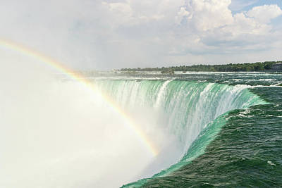Photograph - Niagara Falls - Emerald Water And A Rainbow  by Georgia Mizuleva