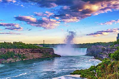 Photograph - Niagara Falls Evening 2 by Steve Harrington
