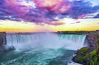 Photograph - Niagara Falls Evening 3 by Steve Harrington