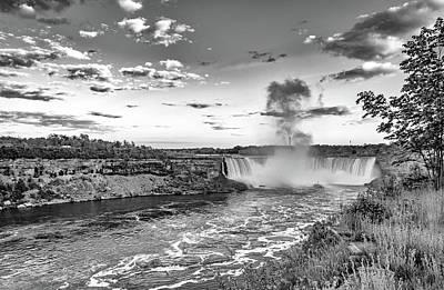 Photograph - Niagara Falls Evening Bw by Steve Harrington
