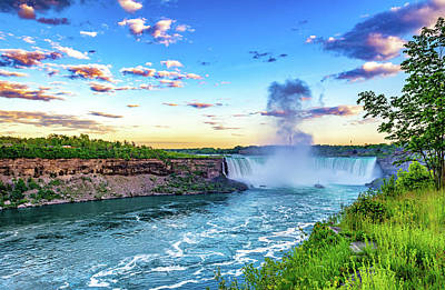 Photograph - Niagara Falls Evening by Steve Harrington