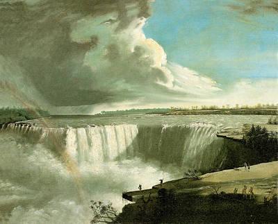 Niagara Falls From Table Rock Art Print by John Vanderlyn
