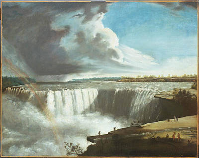 Fall Painting - Niagara Falls From Table Rock by Samuel Finley