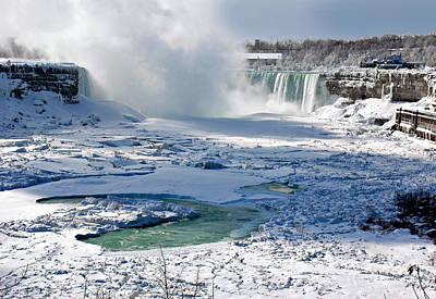 Photograph - Niagara Falls Frozen  II by J R Baldini Master Photographer