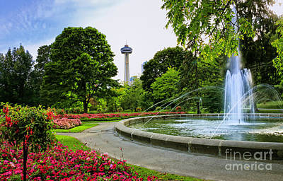 Photograph - Niagara Falls Gardens And Skylon Tower by Charline Xia