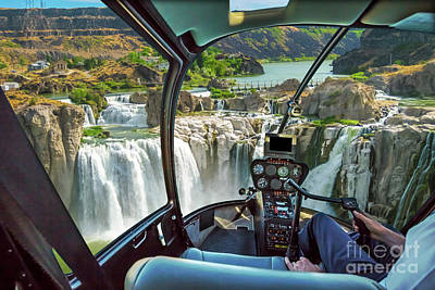 Photograph - Niagara Falls Helicopter by Benny Marty