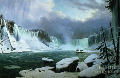 Lake Painting - Niagara Falls by Hippolyte Victor Valentin Sebron