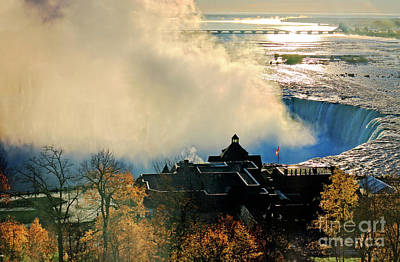 Photograph - Niagara Falls In Morning Sunlight by Charline Xia