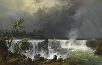 Buffalo River Painting - Niagara Falls by Celestial Images