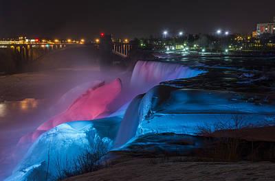 Niagara Falls Light Show Art Print