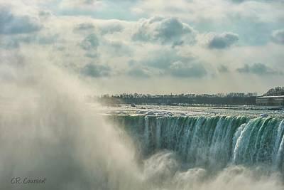Photograph - Niagara Falls Mist by CR  Courson