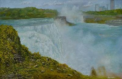 Painting - Niagara Falls New York by Michael Mrozik