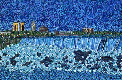 Niagara Falls - Night Art Print by Micah Mullen