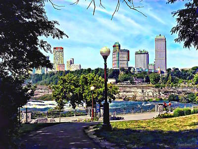 Photograph - Niagara Falls Ny - View From Niagara Falls State Park  by Susan Savad
