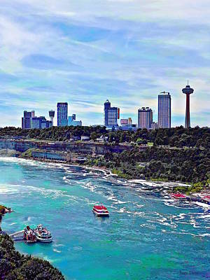 Photograph - Niagara Falls On Skyline by Susan Savad